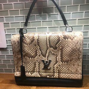 Louis Vuitton lockme II python handbag